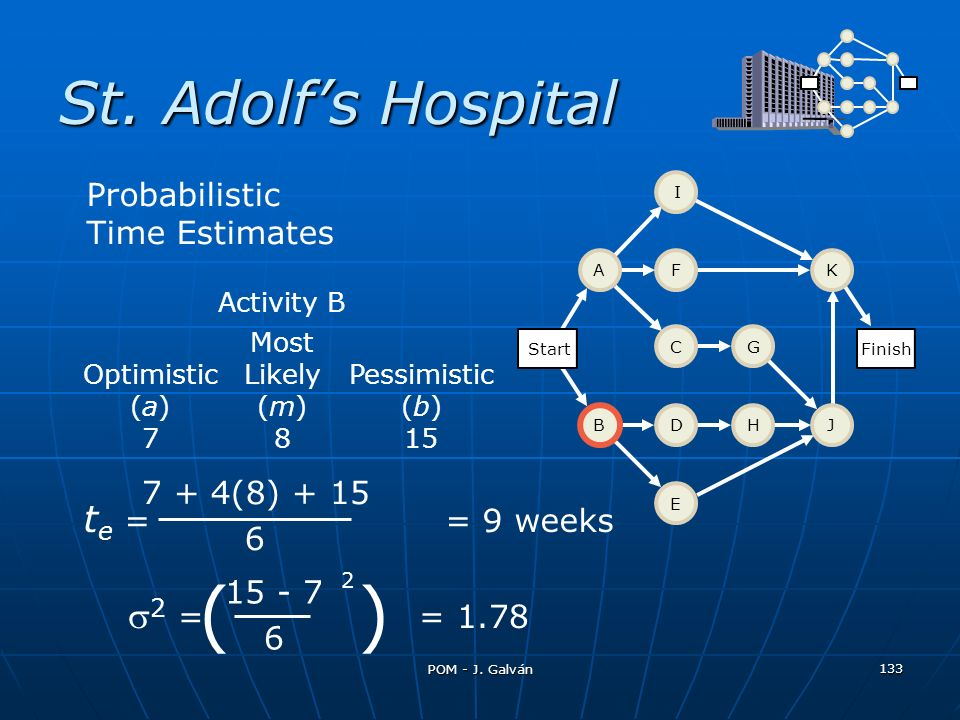 ( ) St. Adolf's Hospital te = = 9 weeks 2 = = 1.78