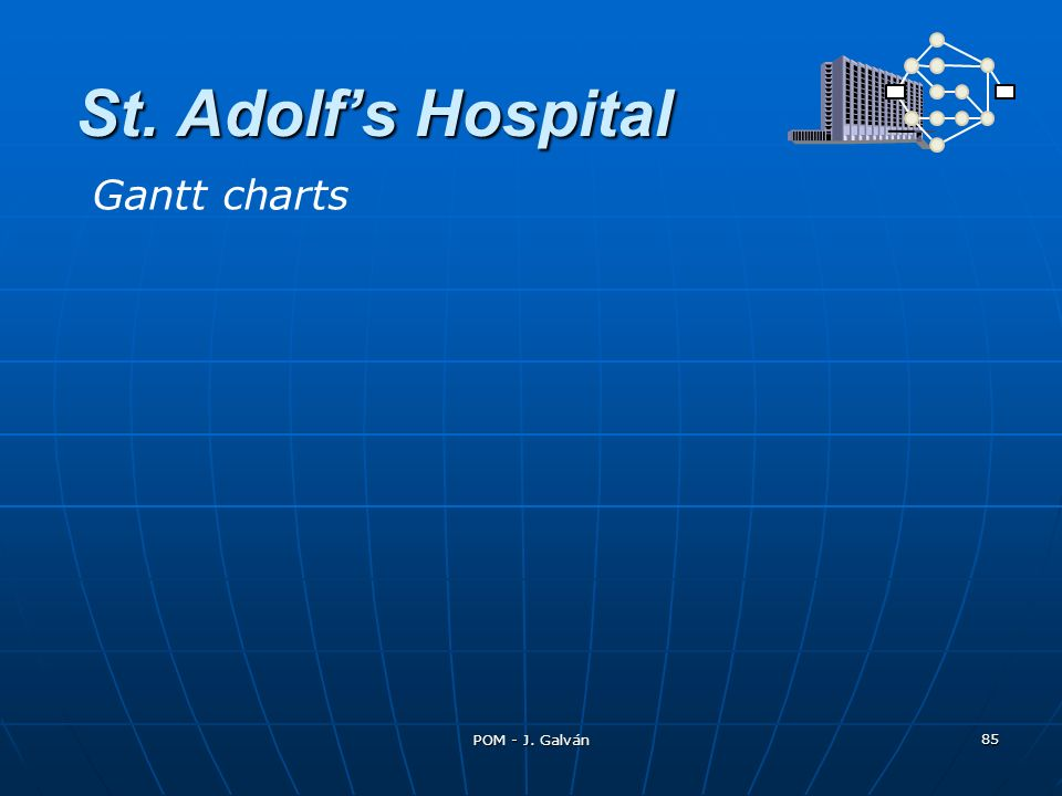 St. Adolf's Hospital Gantt charts