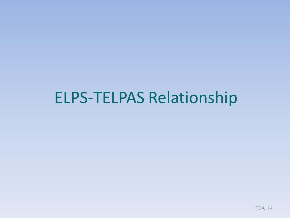 ELPS-TELPAS Relationship