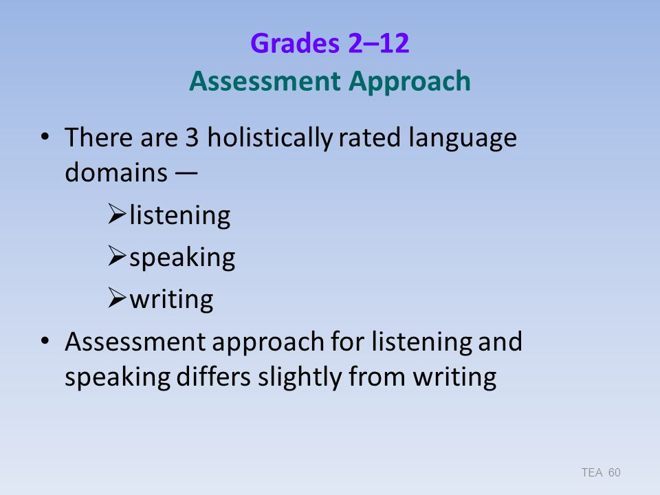 Grades 2–12 Assessment Approach