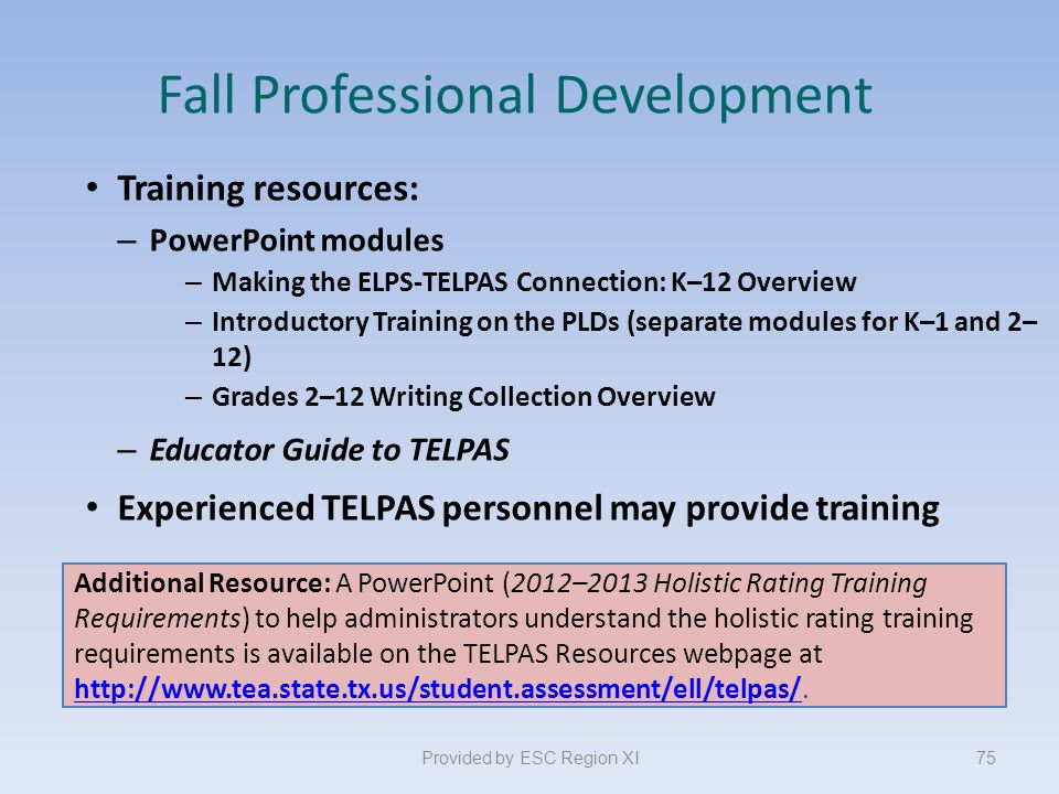 Fall Professional Development