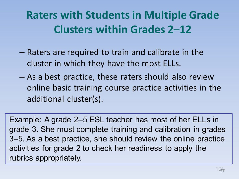Raters with Students in Multiple Grade Clusters within Grades 2–12