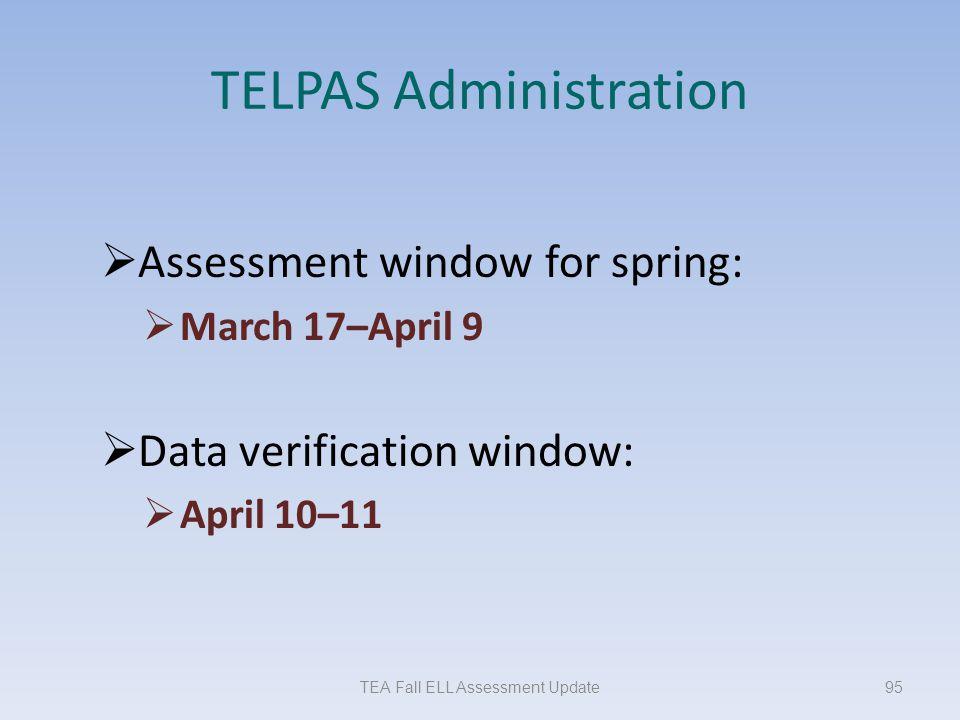 TELPAS Administration