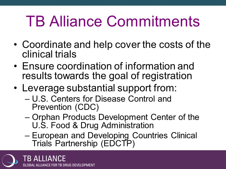 TB Alliance Commitments
