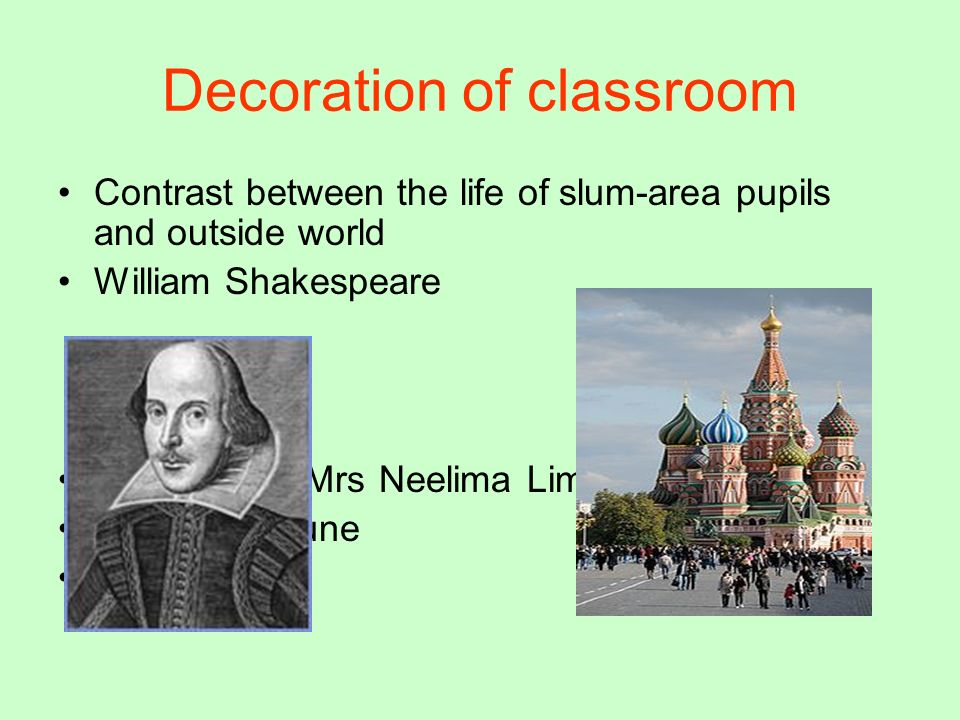 Decoration of classroom