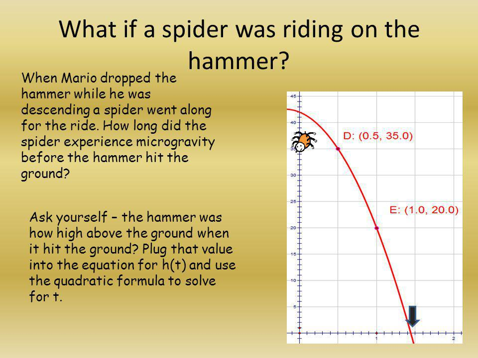 What if a spider was riding on the hammer