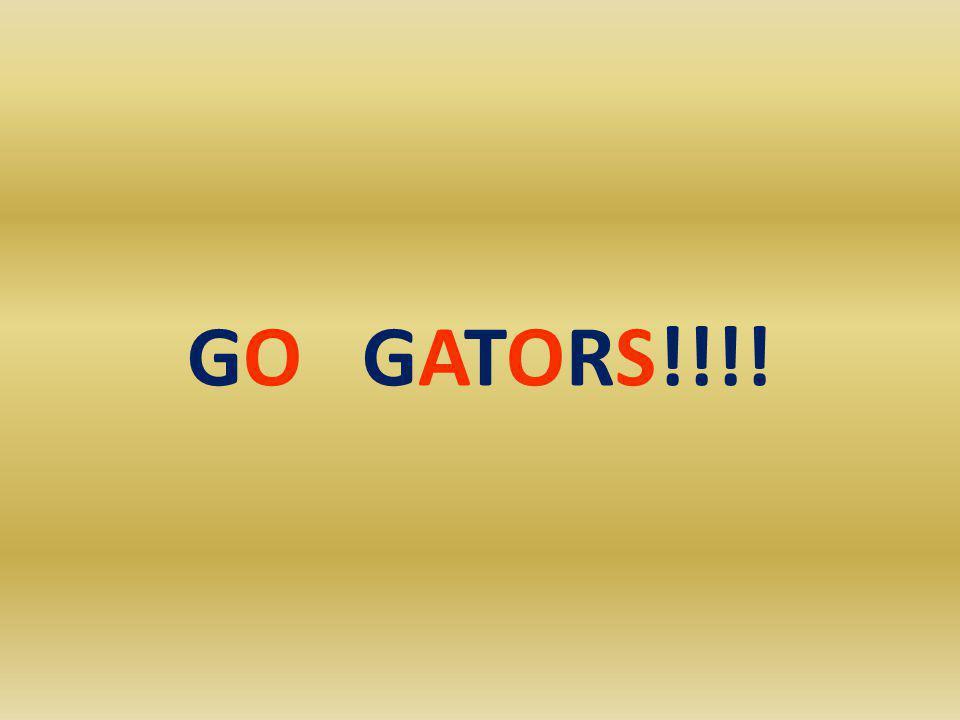 GO GATORS!!!!