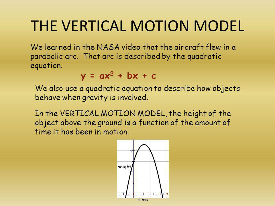 THE VERTICAL MOTION MODEL