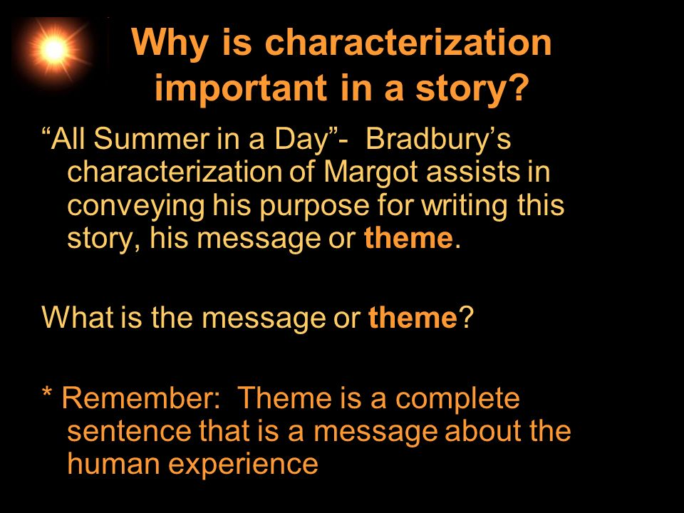 Why is characterization important in a story