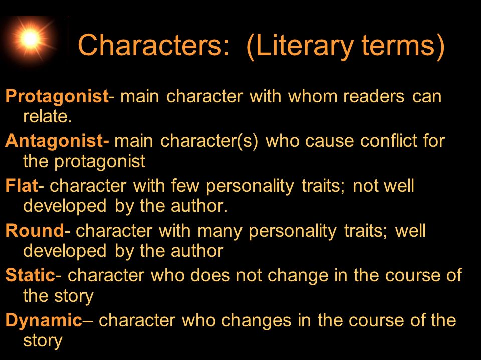 Characters: (Literary terms)