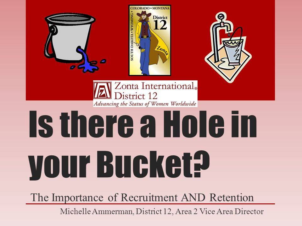 Is there a Hole in your Bucket