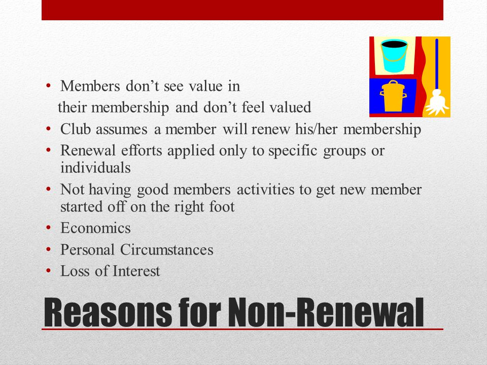 Reasons for Non-Renewal