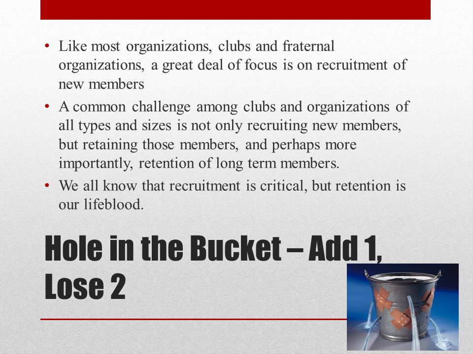 Hole in the Bucket – Add 1, Lose 2