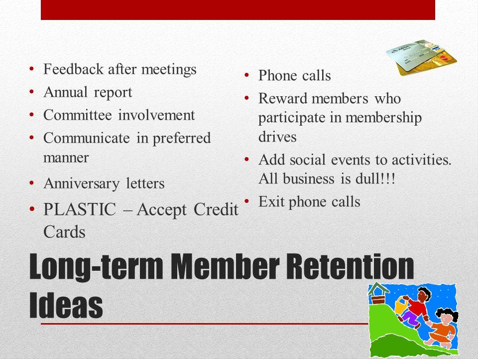 Long-term Member Retention Ideas