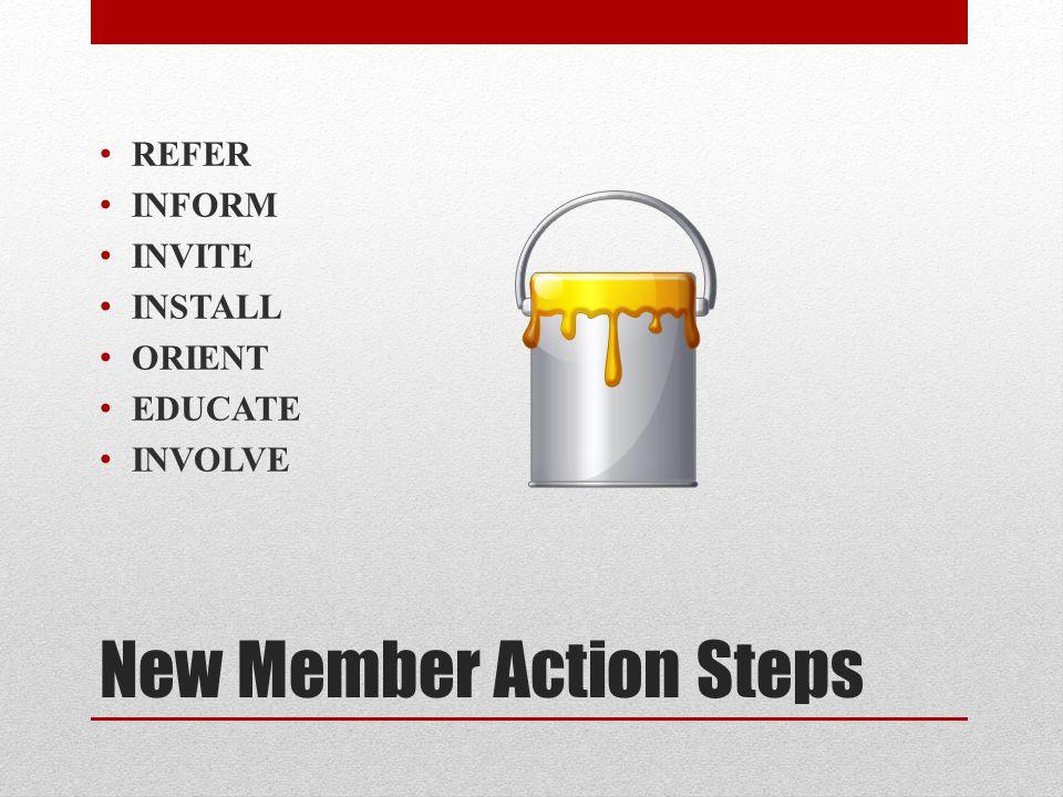 New Member Action Steps