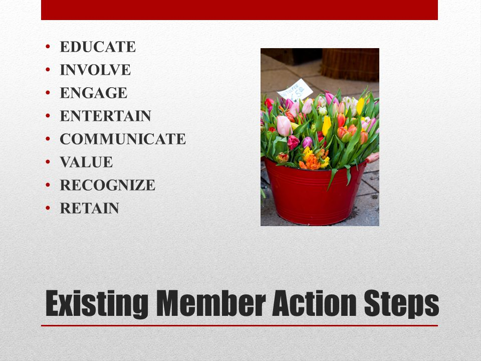 Existing Member Action Steps
