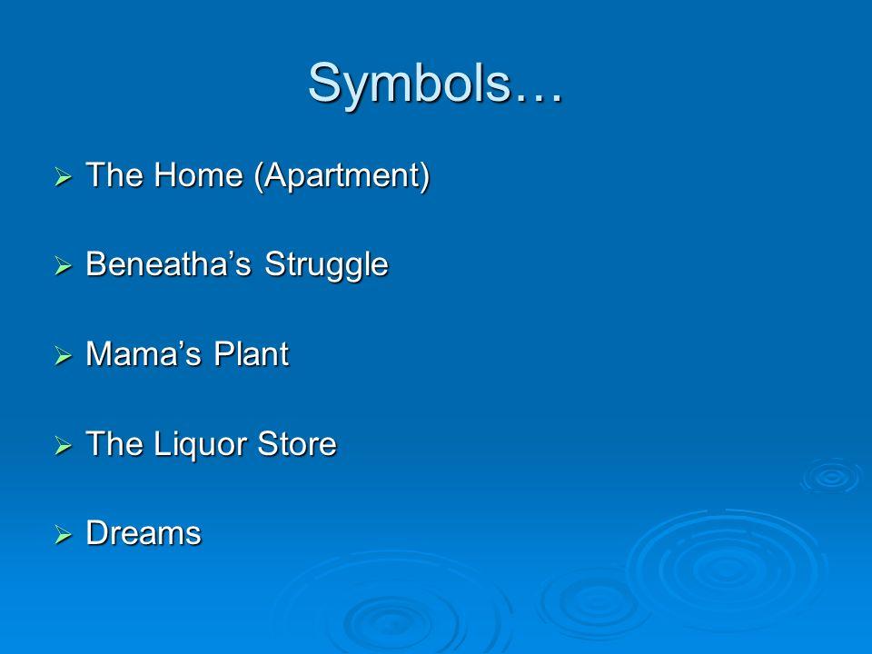 Symbols… The Home (Apartment) Beneatha's Struggle Mama's Plant