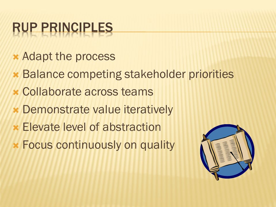 RUP Principles Adapt the process