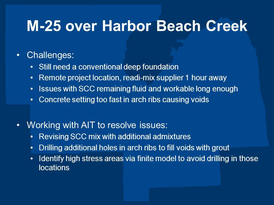 M-25 over Harbor Beach Creek