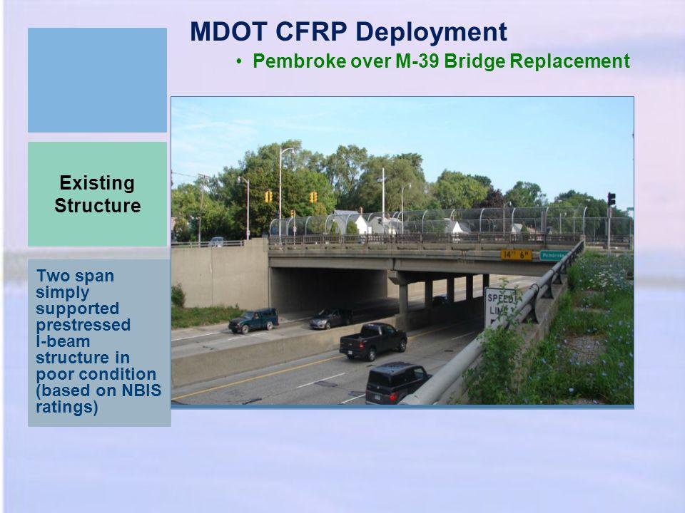 MDOT CFRP Deployment Pembroke over M-39 Bridge Replacement