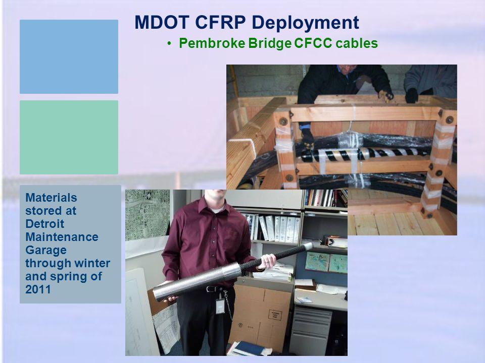 MDOT CFRP Deployment Pembroke Bridge CFCC cables