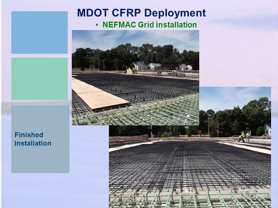 MDOT CFRP Deployment NEFMAC Grid installation Finished installation 22