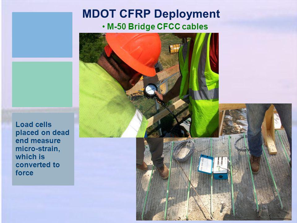 MDOT CFRP Deployment M-50 Bridge CFCC cables