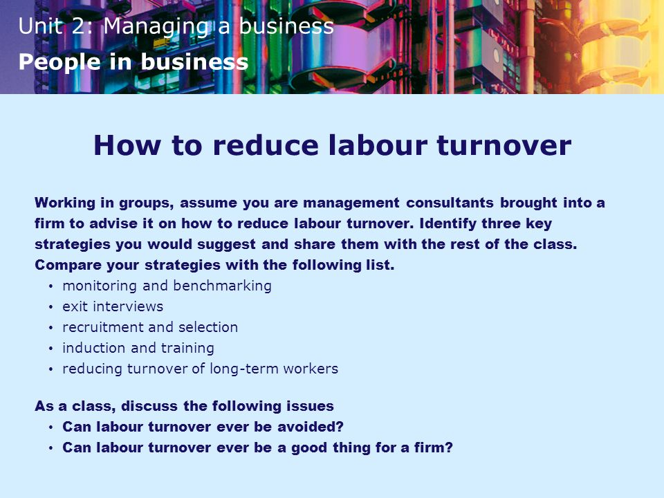 recruitment reducing turnover In the world of business, the high rate of employee turnover can be a significant   try to promote from within your workforce, rather than recruiting outsiders into.