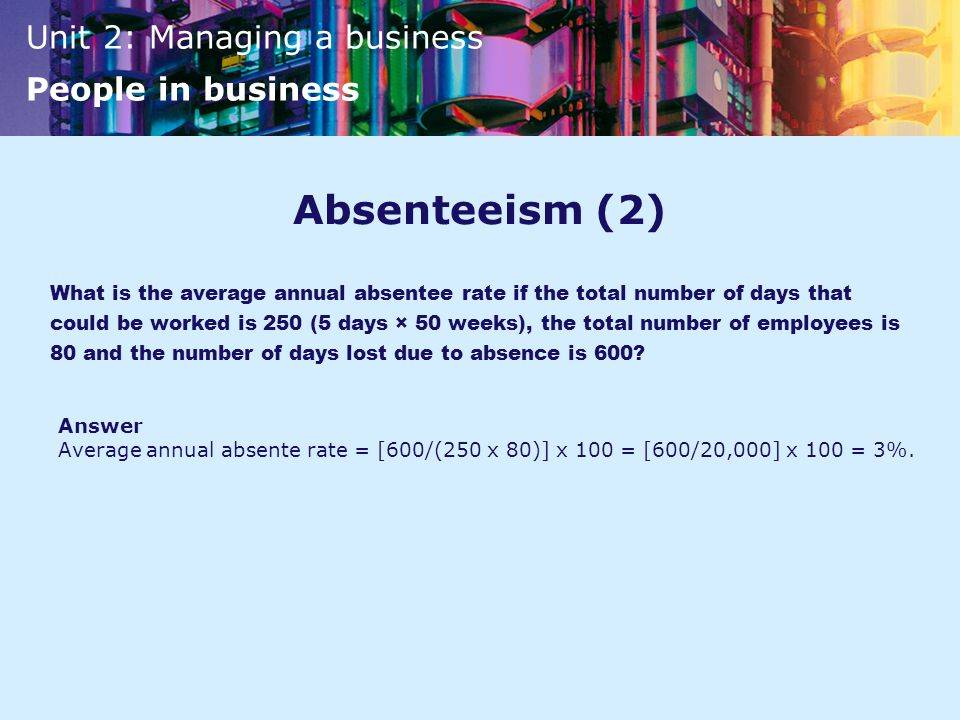 Absenteeism (2)
