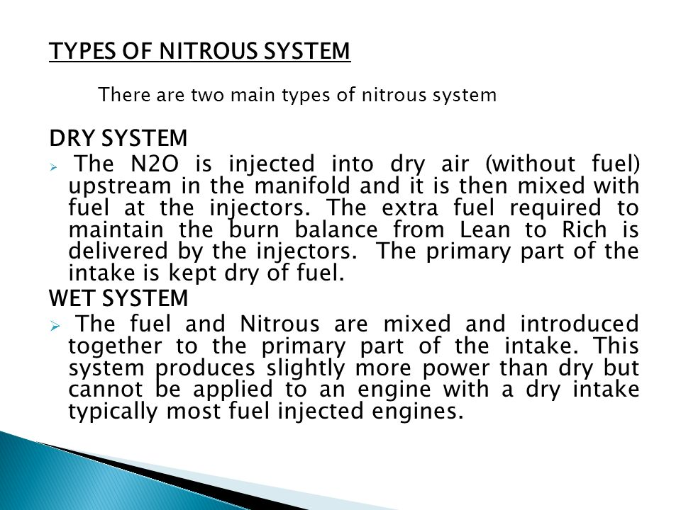 TYPES OF NITROUS SYSTEM