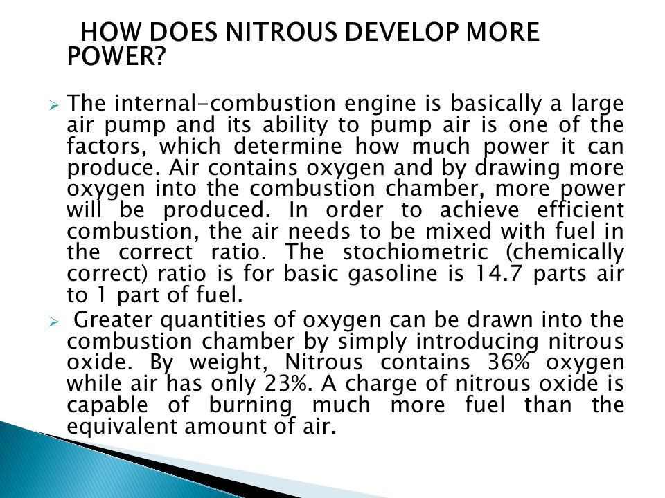 HOW DOES NITROUS DEVELOP MORE POWER