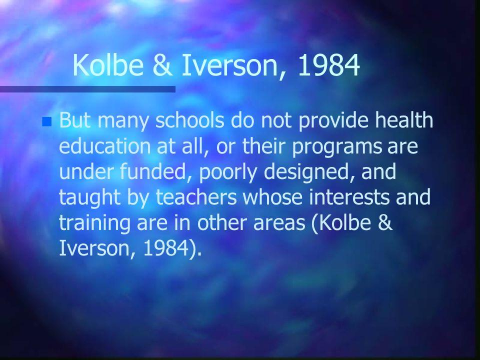 Kolbe & Iverson, 1984