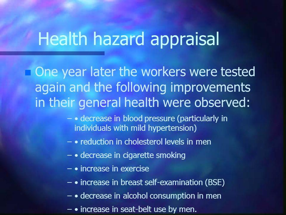 Health hazard appraisal