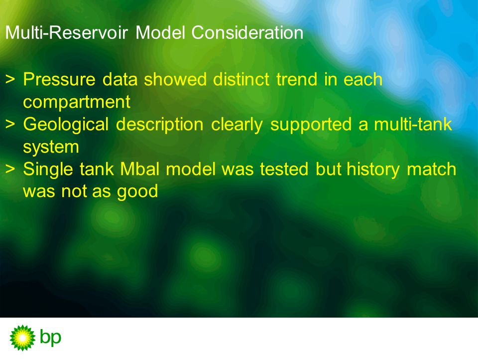 Multi-Reservoir Model Consideration