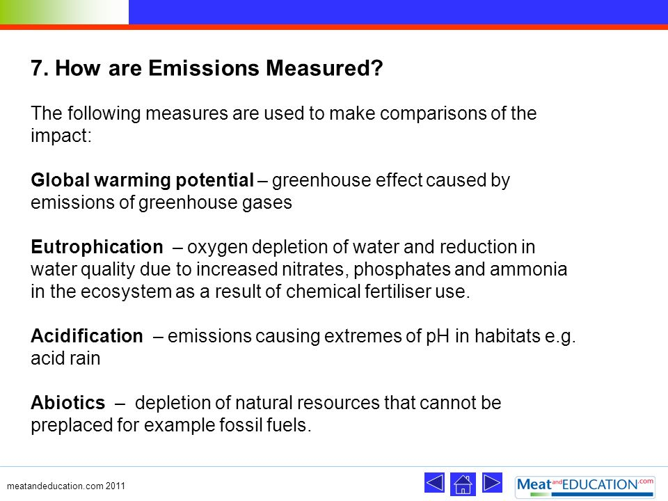 7. How are Emissions Measured