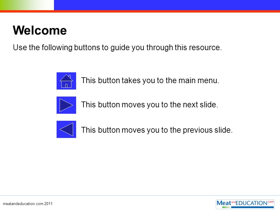 Welcome Use the following buttons to guide you through this resource.