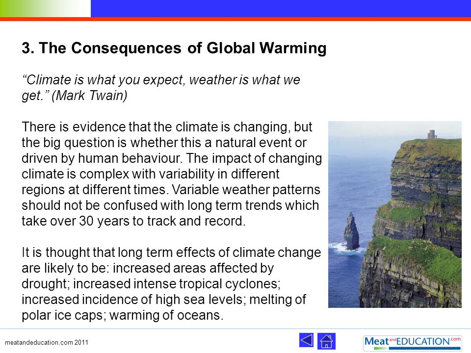 3. The Consequences of Global Warming