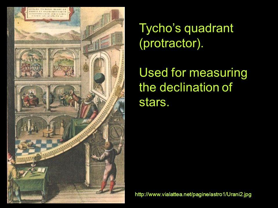 Tycho's quadrant (protractor).