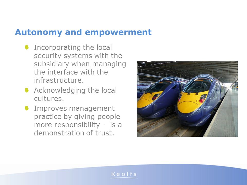 Autonomy and empowerment