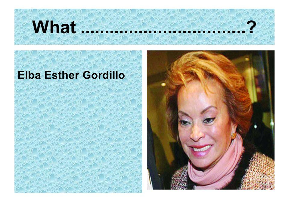What .................................. Elba Esther Gordillo