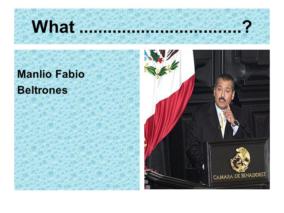 What .................................. Manlio Fabio Beltrones