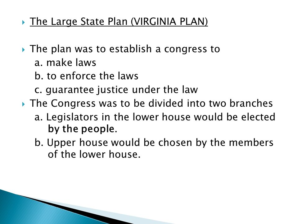 The Large State Plan (VIRGINIA PLAN)