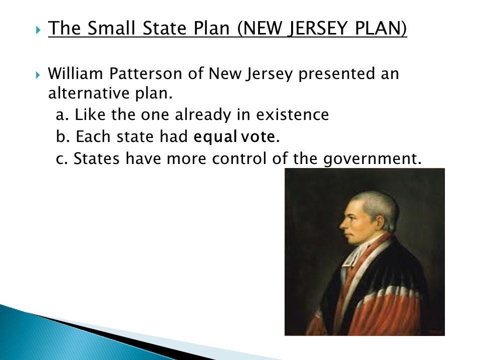 The Small State Plan (NEW JERSEY PLAN)