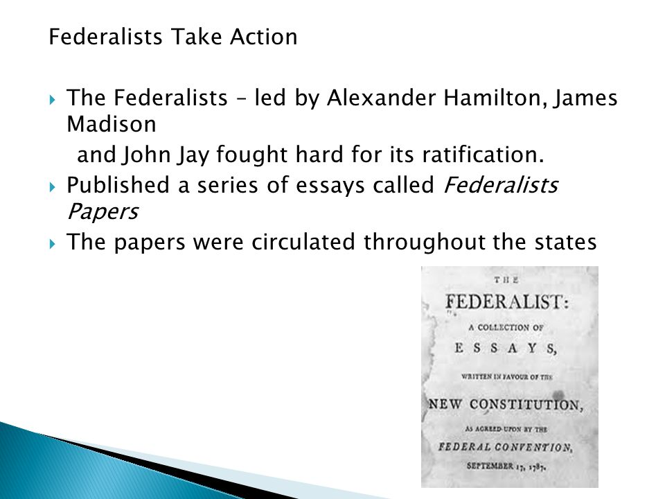 Federalists Take Action