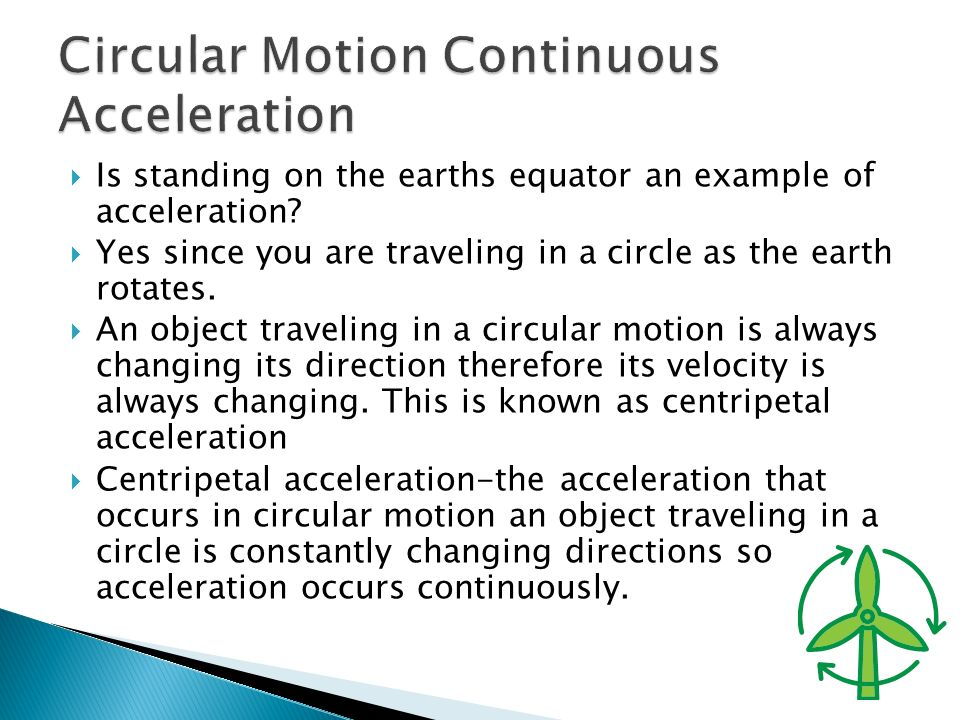 Circular Motion Continuous Acceleration