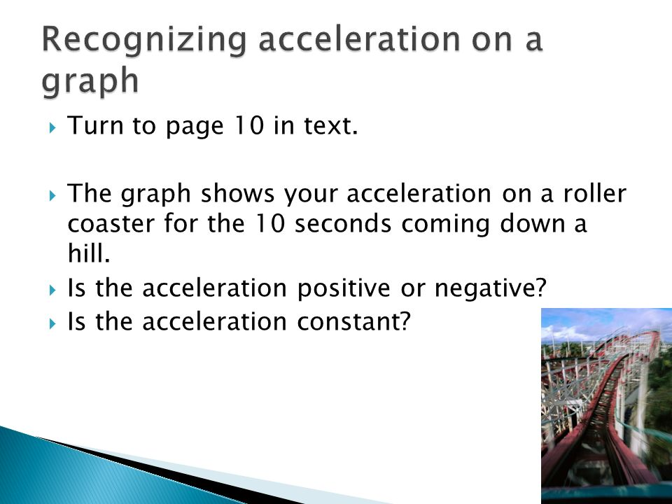 Recognizing acceleration on a graph