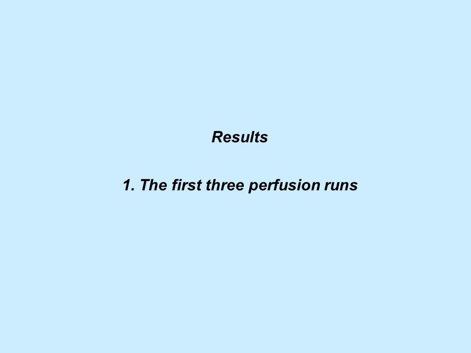 1. The first three perfusion runs