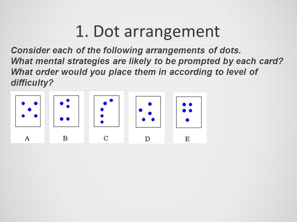 1. Dot arrangement