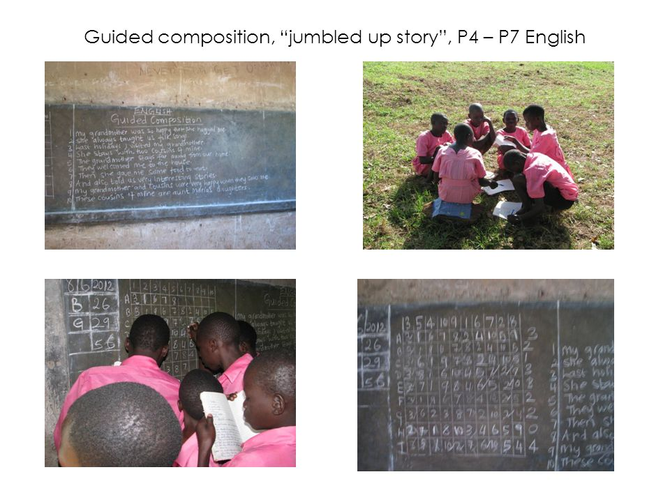 Guided composition, jumbled up story , P4 – P7 English