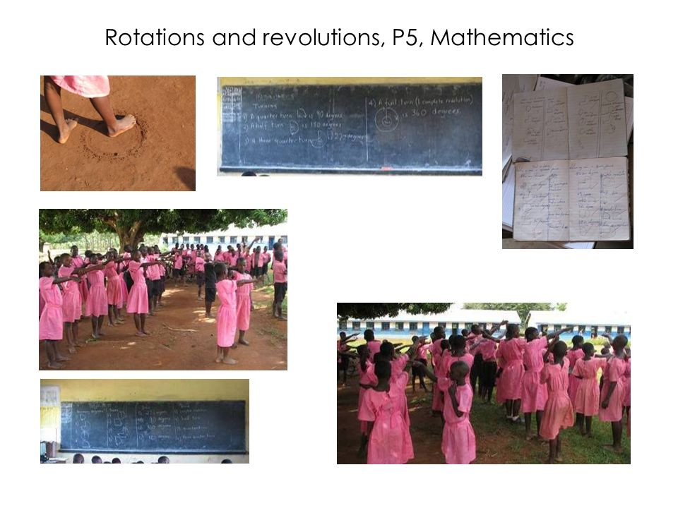 Rotations and revolutions, P5, Mathematics